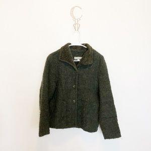 Weave of the Irish Green Wool Sweater Jacket